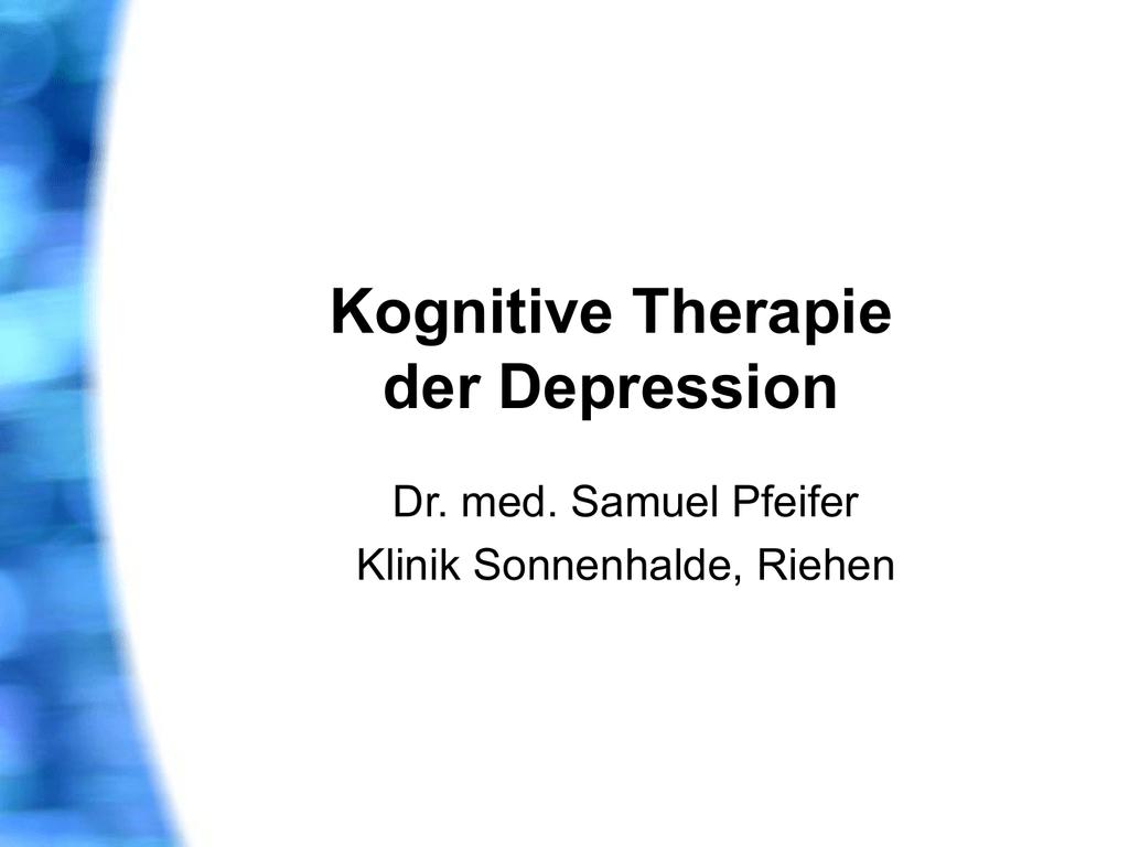 PPT Kognitive Therapie der Depression - ein - Seminare