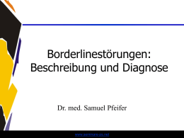 Borderline - Diagnose - Beschreibung - Prognose - Seminare