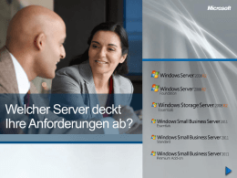 Server Entscheidungshilfe - Frank Becker IT