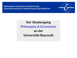 P&E in 20 Minuten - Philosophy & Economics