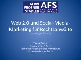 Web 2.0 und Social-Media-Marketing für Rechtsanwälte - Internet-Law