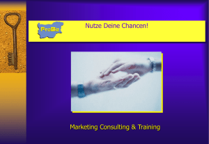 Leistungen - ProBiz - Marketing Consulting & Training