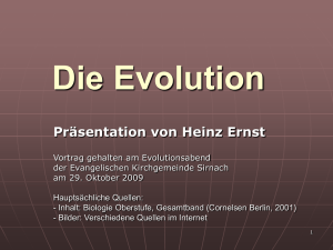 Die Evolution - ernst