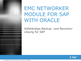 EMC NetWorker Module for SAP with Oracle