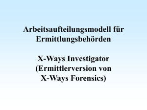 X-Ways Forensics: Ermittlerversion