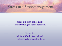 Stress und Stressmanagement