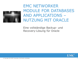 emc networker module for databases and applications