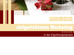 Zielgerichtetes Marketing in der Ergotherapie