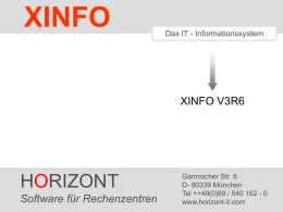 XINFO - Version V3R6