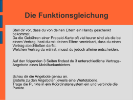 Die Funktionsgleichung - GMS