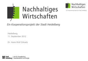 "Presentation ""Umweltamt /Agency for Environment, Heidelberg"