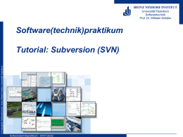 SVN-Tutorial - Heinz Nixdorf Institut