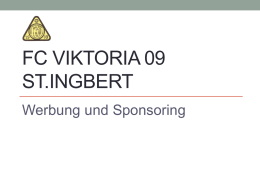 Vertrag Bandenwerbung Fc Viktoria 09 St Ingbert Ev