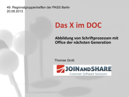 Das X im DOC - net Developers Group Berlin Brandenburg