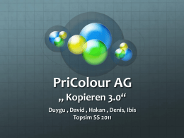 "PriColour AG "" Kopieren 3.0"" Duygu , David , Hakan , Denis, Ibis"