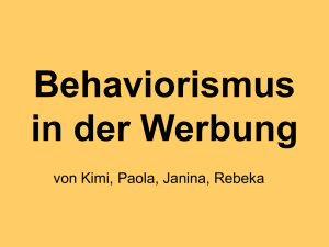 Behaviorismus in der Werbung