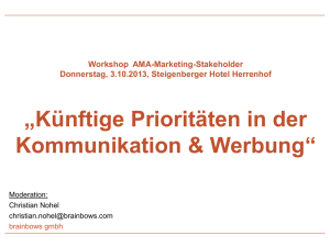Protokoll Workshop künftige Prioritäten in der - AMA