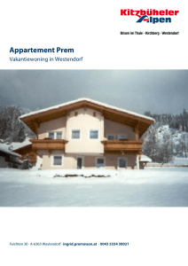Appartement Prem in Westendorf