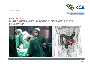 Dikkedarmkanker: diagnose, behandeling en follow-up