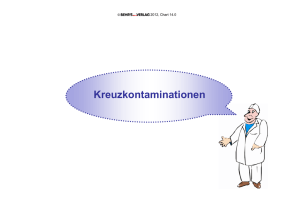Was sind Kontaminationen? Kontamination
