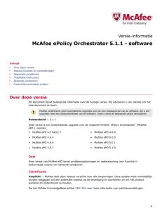 McAfee ePolicy Orchestrator 5.1.1 - software Versie