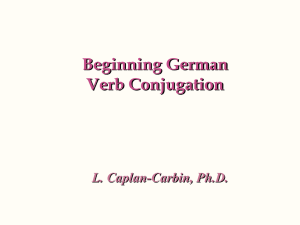 Conjugation - Web German