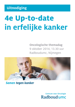 4e Up-to-date in erfelijke kanker