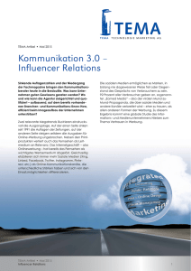 Influencer Relations - TEMA Technologie Marketing AG