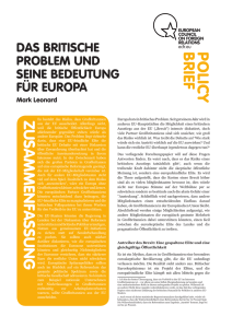 policybrief zusammenfassung - European Council on Foreign