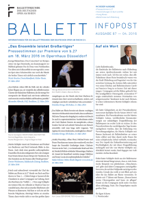 Ballett Infopost Nr. 87 April 2016