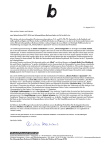 Pressebrief September 2015 zum