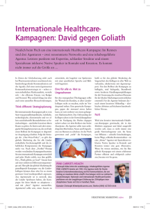 Internationale Healthcare- Kampagnen: David gegen Goliath