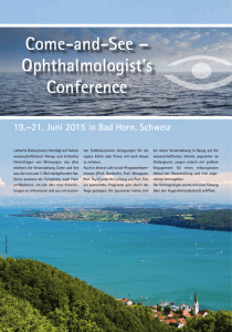 Come-and-See – Ophthalmologist`s Conference