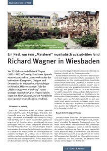 Richard Wagner in Wiesbaden