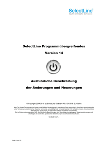 Update Programmübergreifendes Version 14