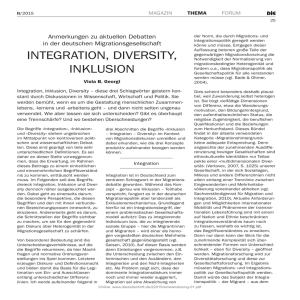 Integration, Diversity, Inklusion