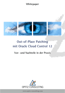 Out-of-Place Patching mit Oracle Cloud Control 12