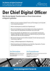 Der Chief Digital Officer - Digital Transformation Group