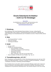 Oracle Datenbank Architektur
