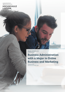 Business Administration with a Major in Online Business and