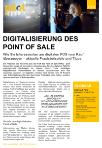 digitalisierung des point of sale