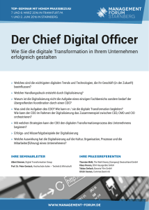Der Chief Digital Officer - Management Forum Starnberg GmbH