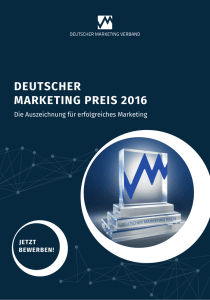 deutscher marketing preis 2016 - Deutscher Marketing Verband eV