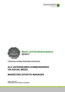 Details Social Media und Marketing effektiv