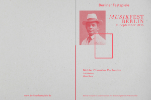 Abendprogramm Mahler Chamber Orchestra