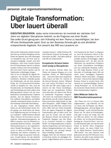 Digitale Transformation: Uber lauert überall