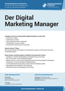 Der Digital Marketing Manager - Management Forum Starnberg GmbH