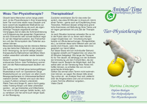 mein Tier-Physiotherapie-Flyer - Animal-Time