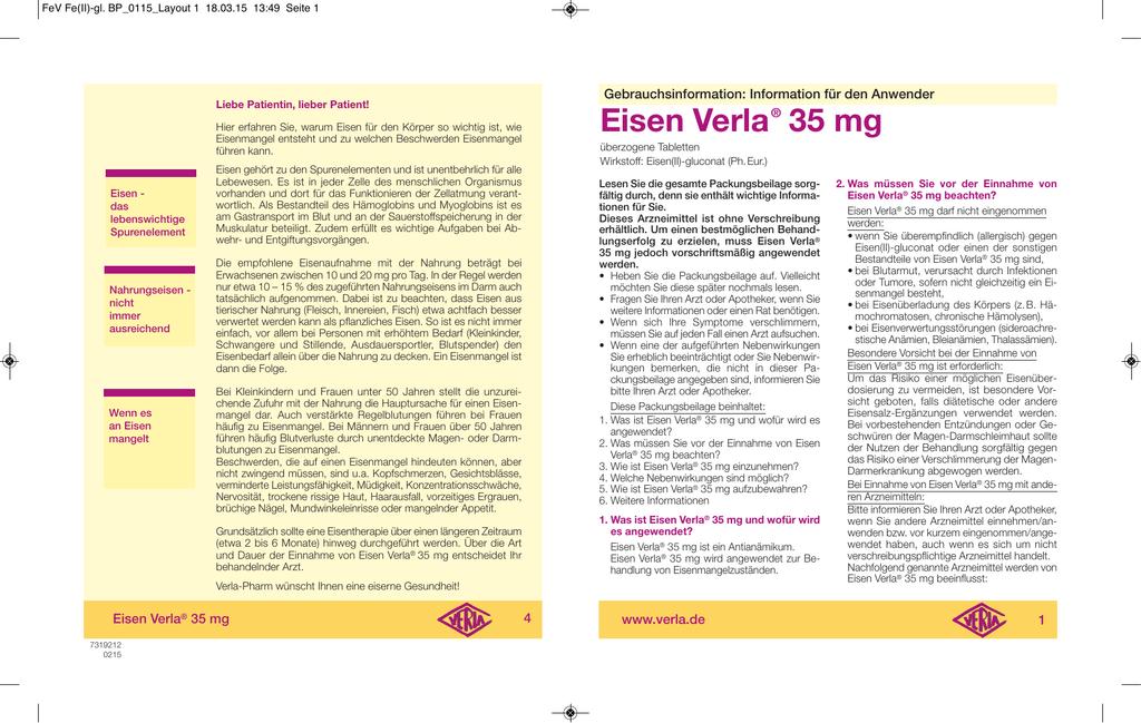eisen verla 35 mg