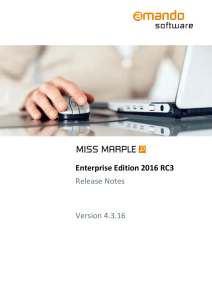 Release Notes Miss Marple 2016 RC 3